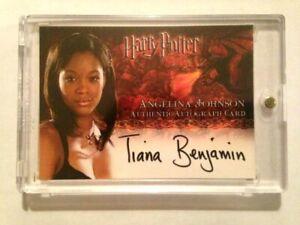 HARRY POTTER GOBLET OF FIRE AUTOGRAPH CARD Tiana Benjamin Angelina Johnson AUTO
