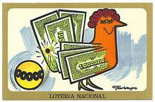 ESPAÑA 1977 POSTAL LOTERIA NACIONAL F.N.M.T. SERIE H Nº1 POR GARBAYO
