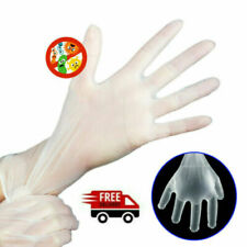 100 pcs Vinyl Gloves Powder Latex Free Ambidextrous Non-Sterile Single Use S M L