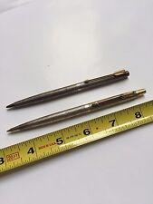 Parker Sterling Silver Ballpoint Pen Mechanical Pencil Set Cisele Vintage