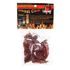 SMOKED DRIED PODS INDIAN BHUT JOLOKIA NAGA GHOST CHILI PEPPER 1/2 oz .5 oz 14g