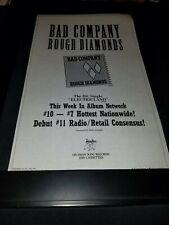 Bad Company Electricland Rare Original Radio Promo Poster Ad Framed!
