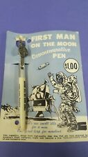 First man on the moon commerorative pen Apollo 11 1969 on original card