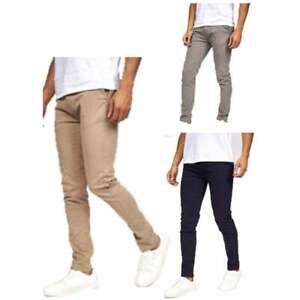 Crosshatch Mens Slim Fit New Chino Trousers