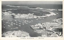 An Aerial View Of The Lobster Boats In Corea Harbor,  Maine ME