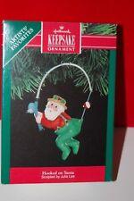 Hallmark 1991 HOOKED ON SANTA Keepsake Ornament  Artists' Favorites Fishing