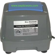 BLUE DIAMOND ET80 Septic/Pond Air Pump FREE SHIPPING COMPATIBLE TO HIBLOW HP80