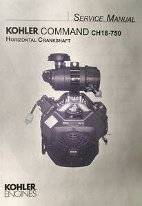 Kohler Command CH18-750 CH20 Horizontal Engine Owner & Service (2 Manual s) h.p
