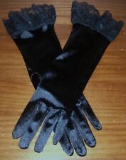 Satin Gloves in two different colors Ivory,Black