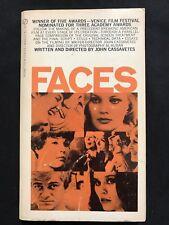 FACES  John Cassavetes 1970 First printing  paperback  w/ film photos!