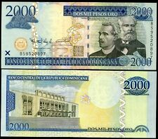DOMINICAN REPUBLIC 2000 2,000 PESOS 2010 P 181 UNC
