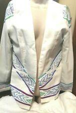 Ladies Off White Light Weight Jacket - Sabo Skirt - Size 10 NWOT