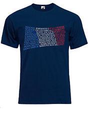 La Marsellesa (Le Français) Francés Himno Nacional Hombre Camiseta AG07