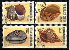 Animaux Coquillages Vientnam du nord (170) série complète 4 timbres oblitérés