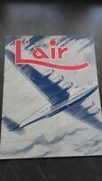 REVUE MENSUELLE L'AIR N°521 AOUT 1942 CHAMPS-ELYSEES PARIS-8E ABE