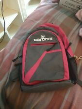 womens carbrini grey and pink rucksack bag in used condition