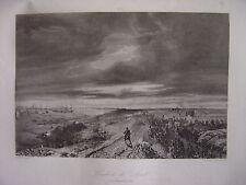 Grande gravure du Combat de DOEL le 23 décembre 1832 Bataille Den Doel