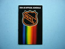 1984/85 NATIONAL HOCKEY LEAGUE NHL HOCKEY SCHEDULE BOOKLET