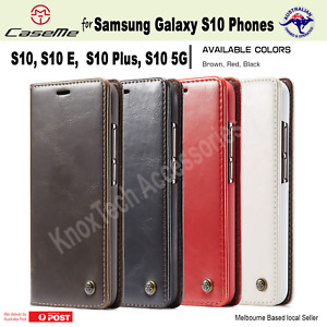 Luxury Magnetic Flip Cover Wallet Leather Case For Samsung Galaxy S10 Models