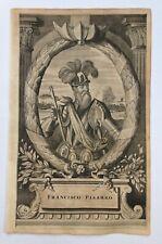 FRANCISCO PISARRO 1671 MONTANUS RARE ANTIQUE ENGRAVED PLATE 17TH CENTURY