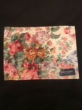 "Ralph Lauren Allison Floral Reversible Fabric Placemats New with Tags 12""x 17"""