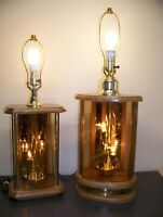 "Pair of 30"" & 26"" tall Great classic Collection 10"" & 9"" base 3 way lighting."