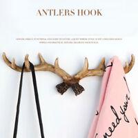 Deer Style 10 Curveds Hook Wall Mounted Clothes Hanger Door Coat Rack Hat Holder