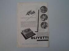 advertising Pubblicità 1935 MACCHINA PER SCRIVERE OLIVETTI PORTATILE