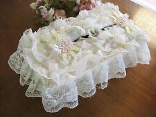 Lovely Flower Sheer Lace Tissue Box Cover Lemon