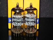ECF80 6BL8 Philips Miniwat NOS Matched Pair for McIntosh MR65B MR67 MR71 333A