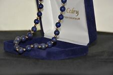 Tour de cou Lapis Lazuli or jaune 18K./  Necklace in lapis lazuli in 18 carat.