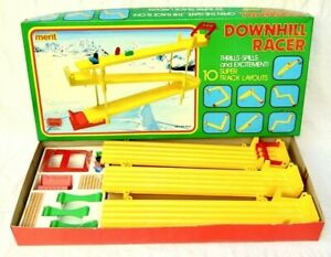VINTAGE DOWNHILL RACER RARE GAME MERIT BOXED COMPLETE EXCELLENT CONDITION