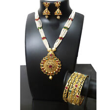 Indian Jewelry  Bollywood New Pendent Fashion Party Wear 4PC Bangles Set ca 42