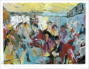 Leroy NEIMAN Sidewalk Cafe Paris Original Poster ESTATE SALE!
