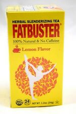 Fatbuster Herbal Slenderizing Tea Lemon Flavor Weight Loss Diet Tea 24 Tea Bags
