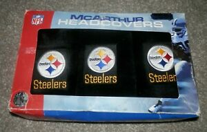 PITTSBURGH STEELERS EMBROIDERED LOGO golf covers  SET 3 HEADCOVERS nfl.com