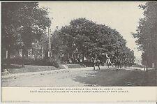 Sellersville PA Vol Fire Company parade on Main Street on 1908 mint postcard