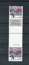 Israel Scott #822 1982 New Year Vertical Gutter Pair With Tab & Serial # MNH!