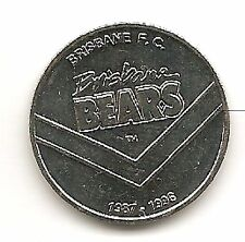 1996 Brisbane Bears Centenary Medal Coin issued by Herald Sun