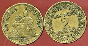 2 francs 1923 CHAMBRE DE COMMERCE  ( bis )