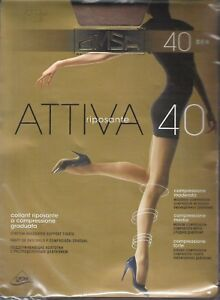 Italian OMSA Support 40  Pantyhose/Tights. Graduated Stretch. All Sizes/Colors.