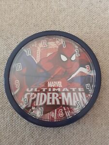 Spiderman Childrens Bedroom Wall Clock in excellent condition