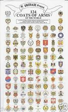 124 Coats of Arms of the World - Gummed - $1.79  **NEW!**, Cinderella stamps