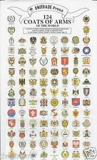 124 Coats of Arms of the World - Gummed - $1.99  **NEW!**, Cinderella stamps