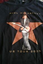 Vintage 2005 Black Paul McCartney US Band Tour Tee Shirt Size large VTG