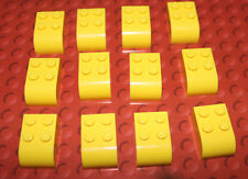 12 x New Yellow Lego Curved Top Bricks - 6215 - Parts & Pieces