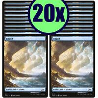 20x ISLAND 376 Double Masters Full Art Basic Land NM/LP MTG Magic the Gathering