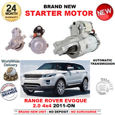 FOR RANGE ROVER EVOQUE 2.0 4X4 STARTER MOTOR 2011-ON AUTOMATIC 1.3kW 11 TEETH