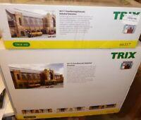 TRIX 66115 + Trix 66117 H0 BAHNHOF HAMBURG-DAMMTOR Großbausatz neuwertig in OVP