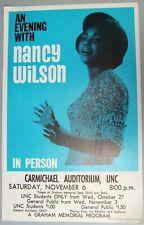 1965 Nancy Wilson Poster, University of North Carolina